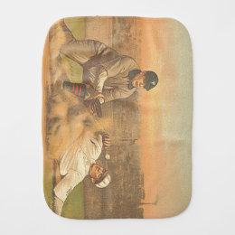 TOP Classic Baseball Baby Burp Cloth