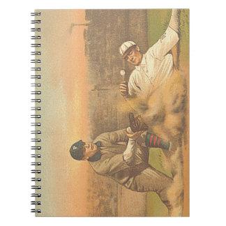 TOP Classic Baseball Spiral Notebook
