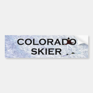 TOP Colorado Skier Bumper Sticker