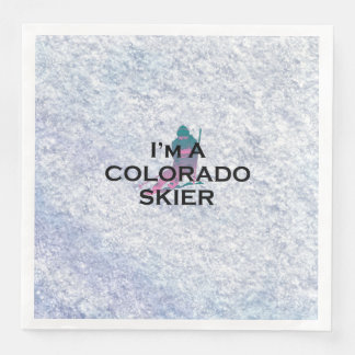 TOP Colorado Skier Paper Dinner Napkin