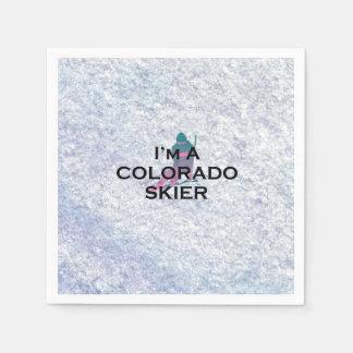 TOP Colorado Skier Standard Cocktail Napkin