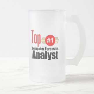 Top Computer Forensics Analyst Frosted Glass Beer Mug