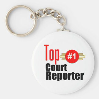 Top Court Reporter Keychain