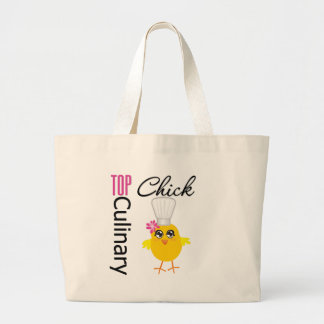 Top Culinary Chick Large Tote Bag
