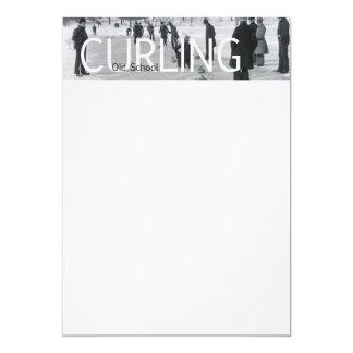 TOP Curling Old School Card