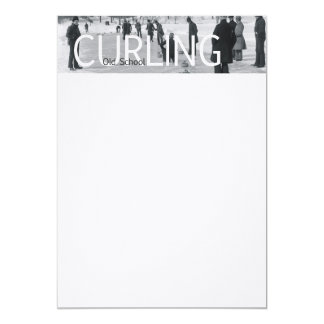 TOP Curling Old School 5x7 Paper Invitation Card