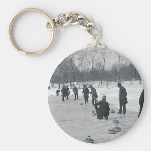 TOP Curling Old School Keychains