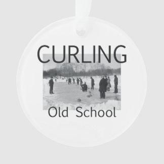 TOP Curling Old School Ornament