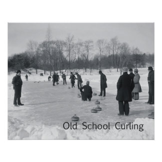 TOP Curling Old School Poster