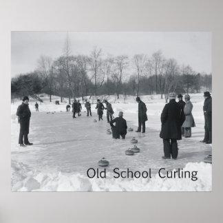 TOP Curling Old School Print