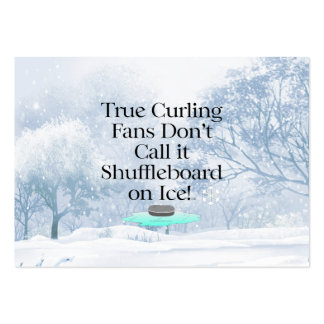 TOP Curling Slogan Large Business Card
