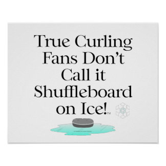 TOP Curling Slogan Poster