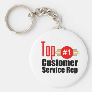 Top Customer Service Rep Basic Round Button Keychain