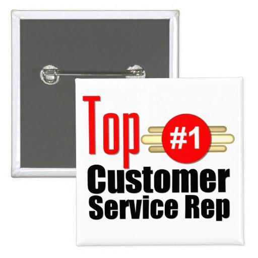 Top Customer Service Rep Button