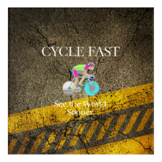TOP Cycle Fast Acrylic Wall Art