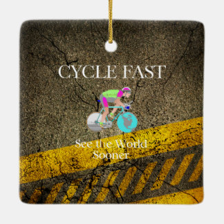 TOP Cycle Fast Ceramic Ornament