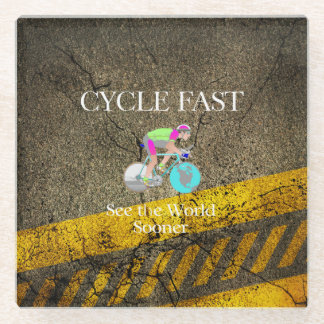 TOP Cycle Fast Glass Coaster