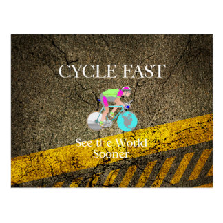 TOP Cycle Fast Postcard