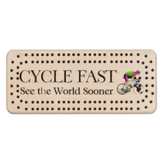 TOP Cycle Fast Wood Cribbage Board