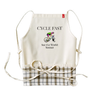 TOP Cycle Fast Zazzle HEART Apron