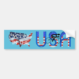 TOP Cycling in the USA Bumper Sticker