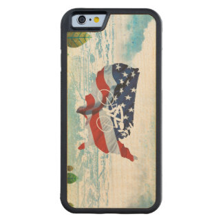 TOP Cycling in the USA Carved Maple iPhone 6 Bumper Case