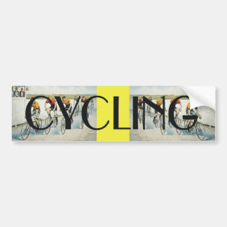 TOP Cycling Old School Bumper Sticker