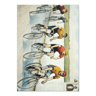 TOP Cycling Old School 5x7 Paper Invitation Card