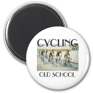 TOP Cycling Old School 2 Inch Round Magnet