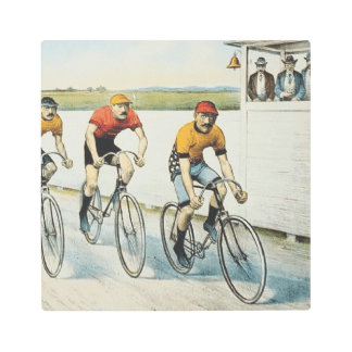 TOP Cycling Old School Metal Print