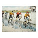 TOP Cycling Old School Postcard