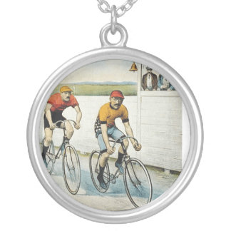 TOP Cycling Old School Silver Plated Necklace