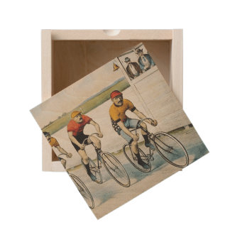 TOP Cycling Old School Wooden Keepsake Box