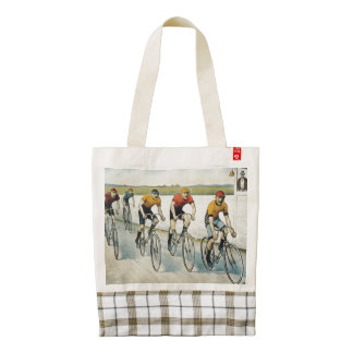 TOP Cycling Old School Zazzle HEART Tote Bag