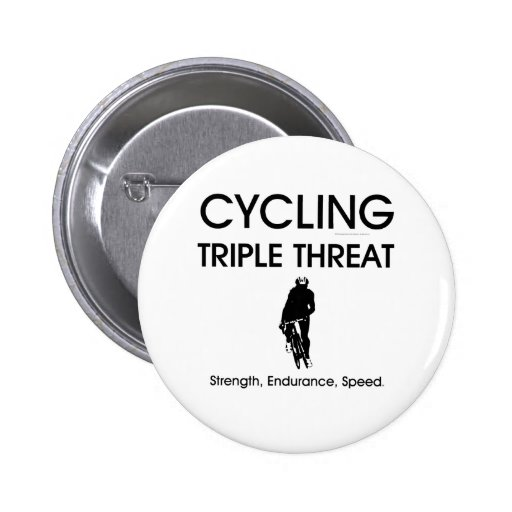 TOP Cycling Triple Threat 2 Inch Round Button