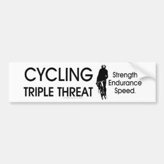 TOP Cycling Triple Threat Bumper Sticker
