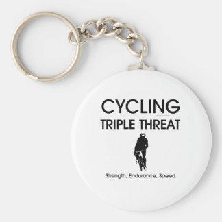 TOP Cycling Triple Threat Keychain