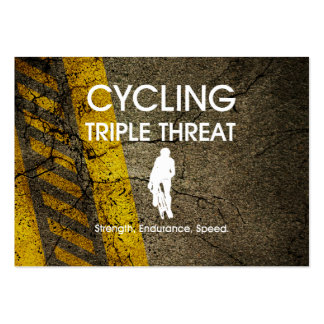 TOP Cycling Triple Threat Large Business Cards (Pack Of 100)