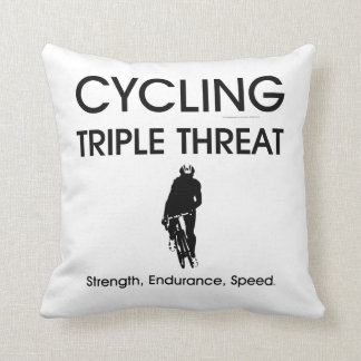 TOP Cycling Triple Threat Throw Pillow