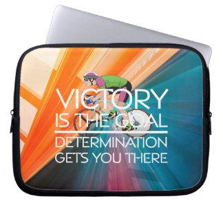 TOP Cycling Victory Slogan Laptop Sleeve