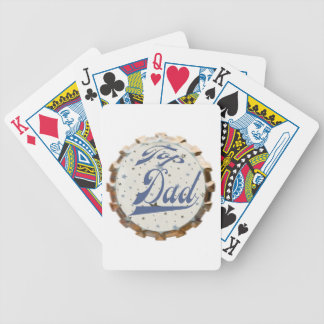 Top Dad Bicycle Playing Cards