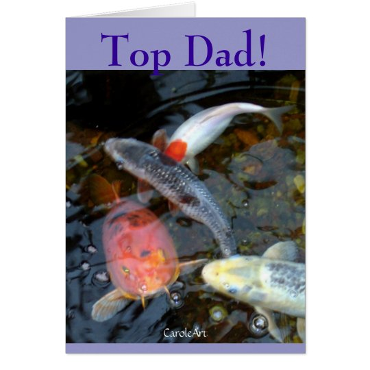"""Top Dad"" Father's Day Card"