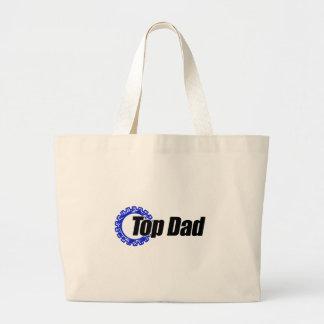 Top Dad Large Tote Bag