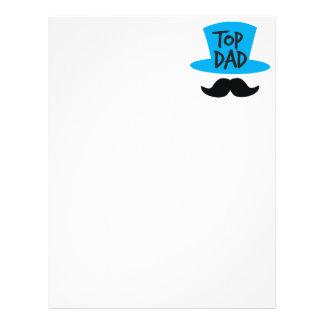 TOP DAD top hat and moustache Letterhead