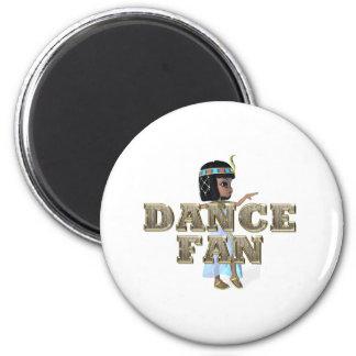 TOP Dance Fan 2 Inch Round Magnet