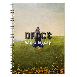 TOP Dance Gypsy Spiral Notebook