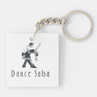 TOP Dance Salsa Double-Sided Square Acrylic Keychain