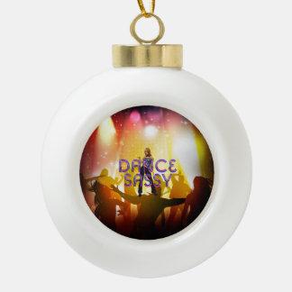 TOP Dance Sassy Ceramic Ball Christmas Ornament