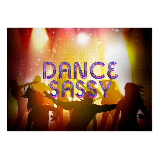 TOP Dance Sassy Large Business Card