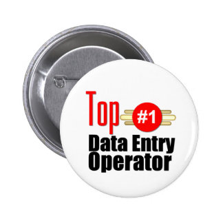 Top Data Entry Operator Pinback Buttons